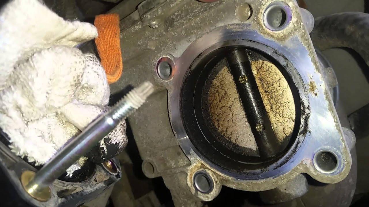 очистка дроссельной заслонки на toyota corolla 150