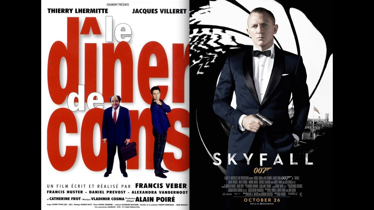 SKYFALL vs LE DINER DE CONS (parodie) - YouTube