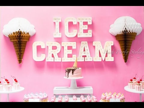 Ice Cream Party Ideas - via Little Wish Parties childrens party blog