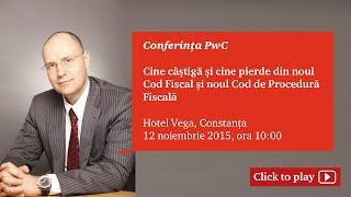 PwC Romania, Conferinta  Noul Cod Fiscal Constanta