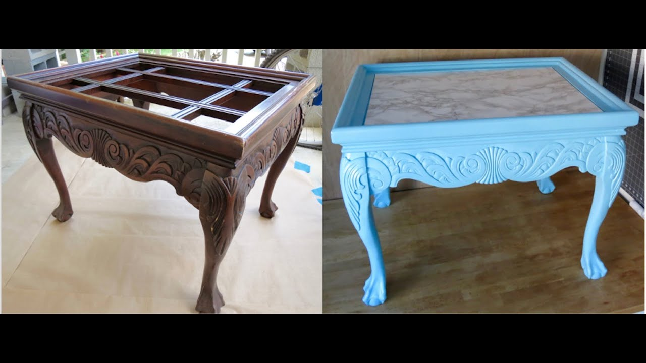 Lovely DIY Upcycled! How To Redo Trash To Treasure End Table!   YouTube