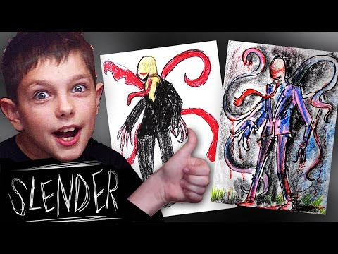 Рисуем SLENDER a, Безумные Рисунки Вовы, РыбаКит