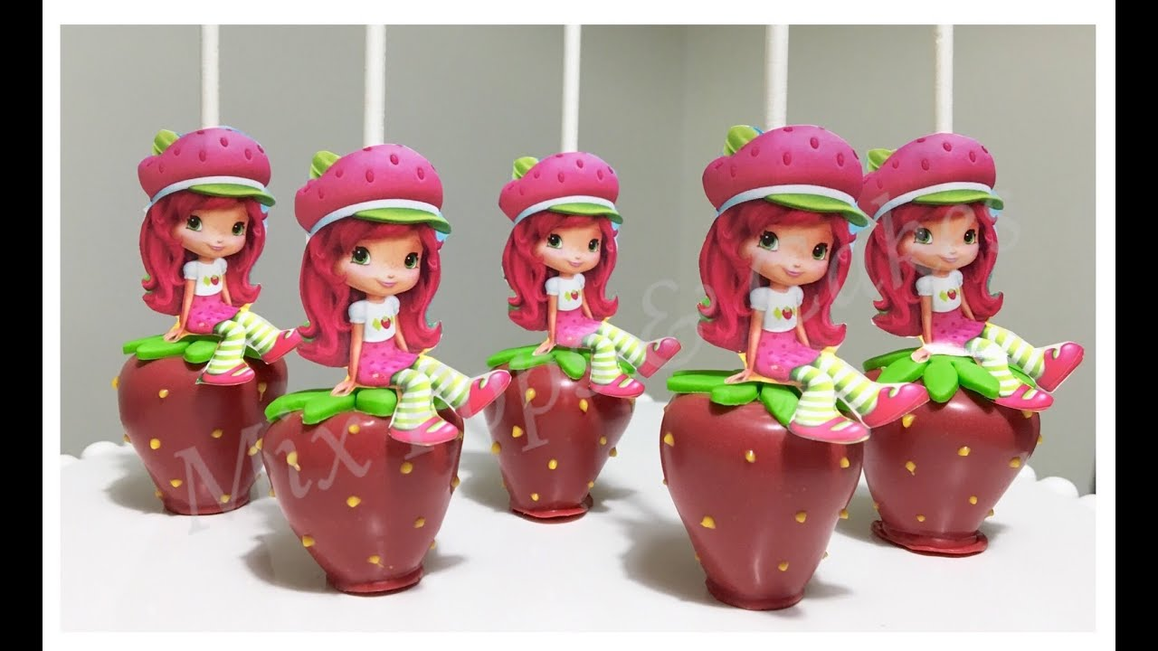 How to make Strawberry Shortcake theme Cakepops - YouTube