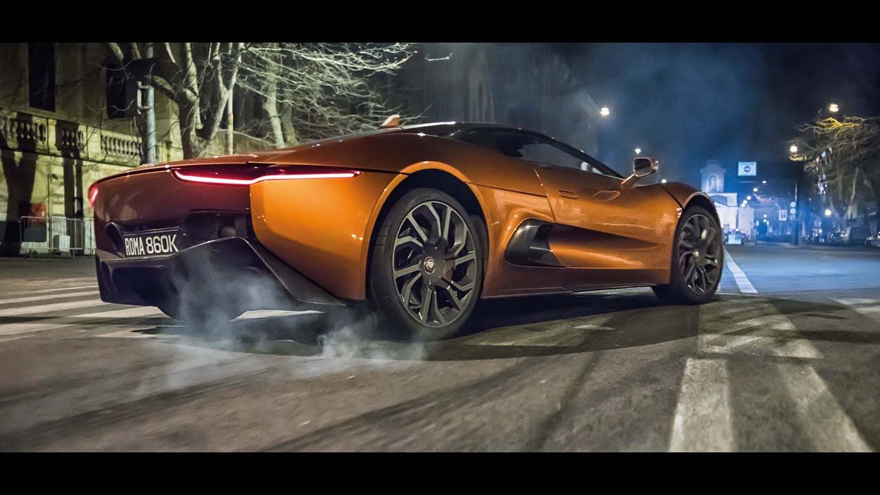 jaguar stunt vehicle c-x75 chase scene: james bond spectre - youtube
