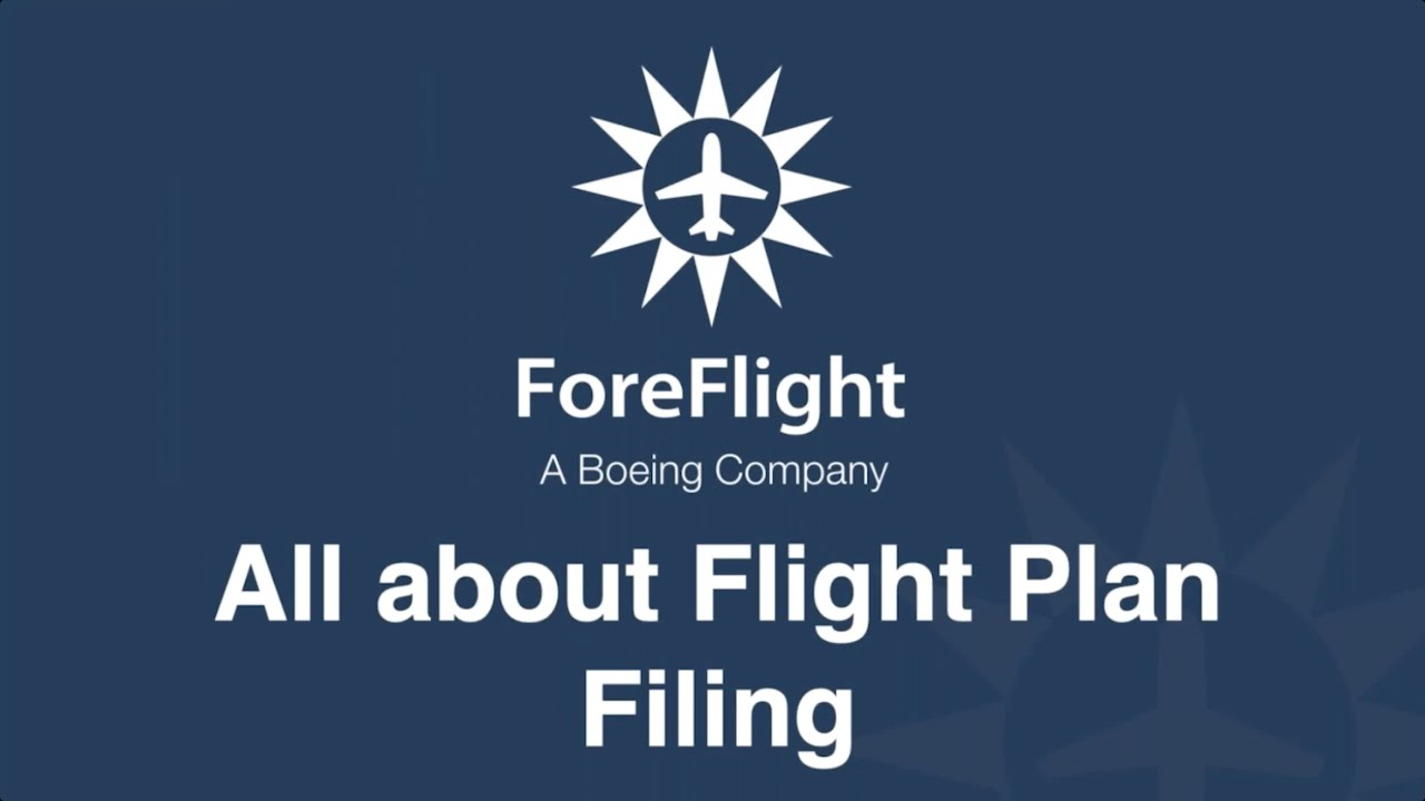 ForeFlight on Frequency All About Flight Plan Filing