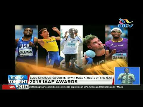 2018 IAAF awards: Eliud Kipchoge favourite to win male athlete of the year
