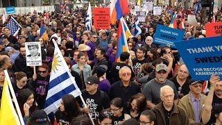 Thousands march in L.A. to mark Armenian genocide centennial