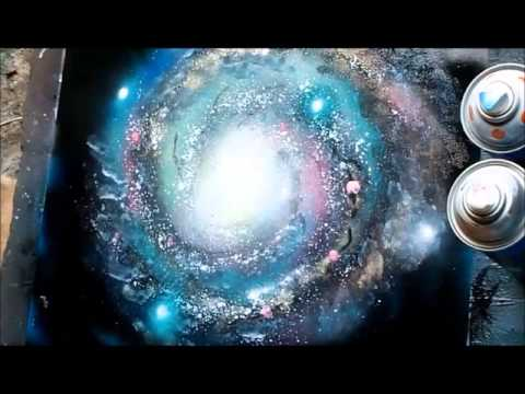 Spray Paint Art Secrets September 2017 Galaxy Trees Mountains Planets Saturn Airbrush