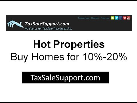 Hot Properties for sale at tax sales- tax foreclosed homes for 5% to 10% of value