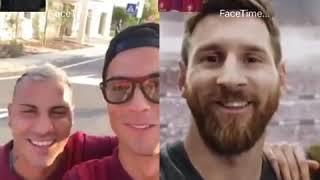 Роналдо звонит Месси