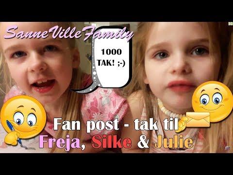 Sannevillefamily❤Fanpost🍭🍬🍫 Tak Til Freja, Silke & Julie😍😍😍
