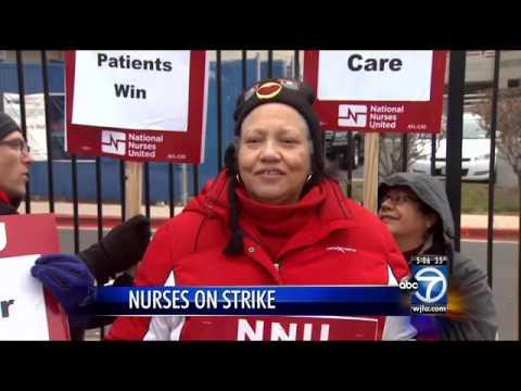 Registered nurses at MedStar Washington Hospital Center stage strike