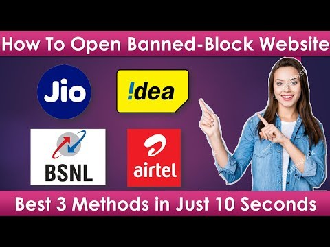How To Open Blocked Website on Jio, Airtel, Idea-Vodafone, BSNL | Best 3 Ways| 10 Seconds 🔥🔥 from YouTube · Duration:  2 minutes 38 seconds