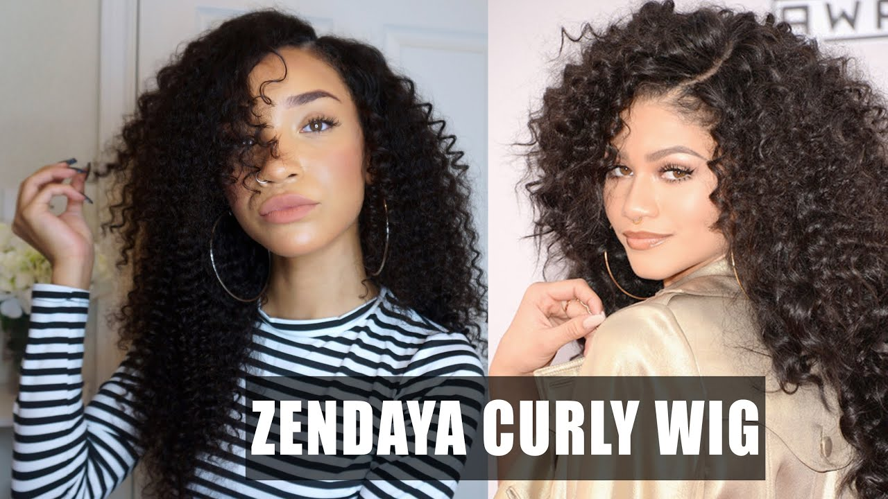 HAIR| Big Curly Lace Wig - Zendaya AMAs Inspired (WowAfrican) | RAVEN ...