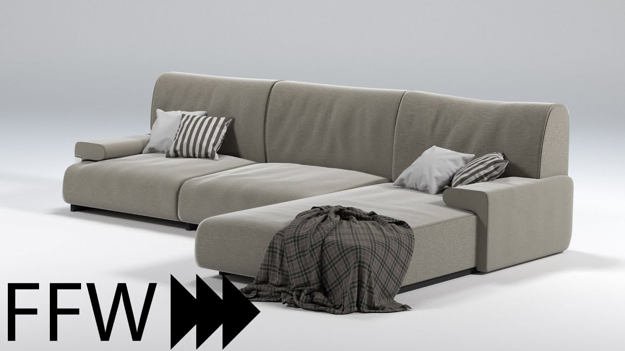 Speed Modelling A Couch In Blender  Youtube