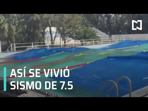 Así se vivió sismo de 7.5 en varias entidades de México - Las Noticias