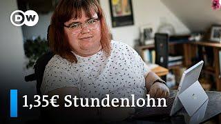 Menschen mit Behinderungen fordern Mindestlohn in Werkstätten | DW Nachrichten