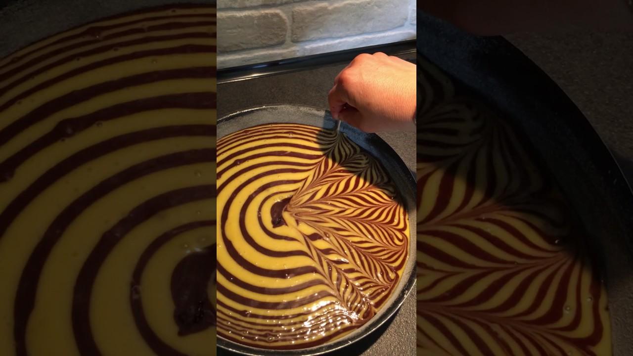 Décoration gâteau marbré