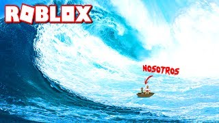 TWO CHILDREN AGAINST A HUGE TSUNAMI!!! ⚠ WHO WILL WIN? 😂 - Roblox