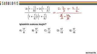 Fem ygs 2 soru çözümleri matematik 1. soru