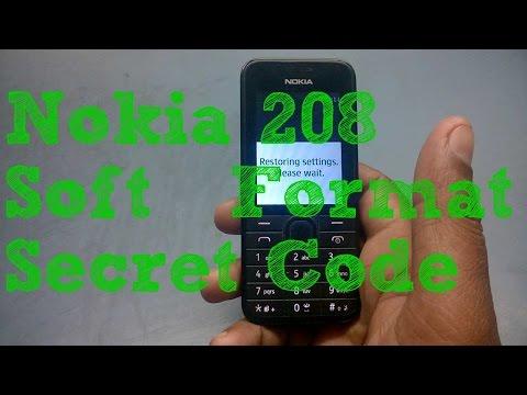 Nokia 208 Soft Format Secret Code