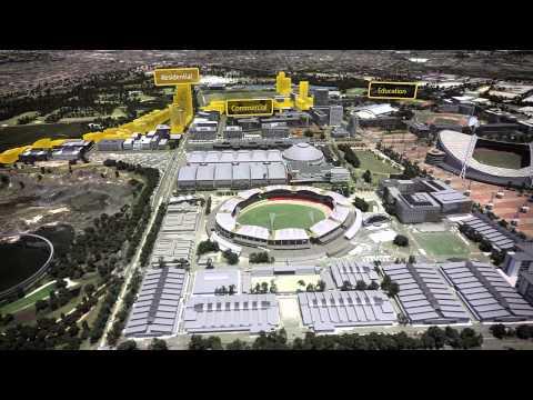 Animation of Sydney Olympic Park 2030