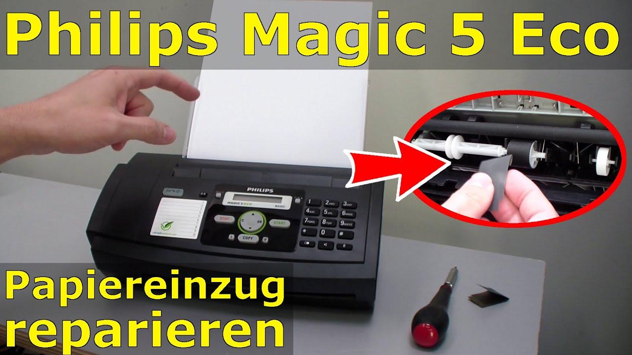 philips magic 5 eco fax papiereinzug reparieren reinigen fix youtube. Black Bedroom Furniture Sets. Home Design Ideas