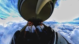 Trinidad to Grand Turk Island Learjet in 360 - Insta360 One