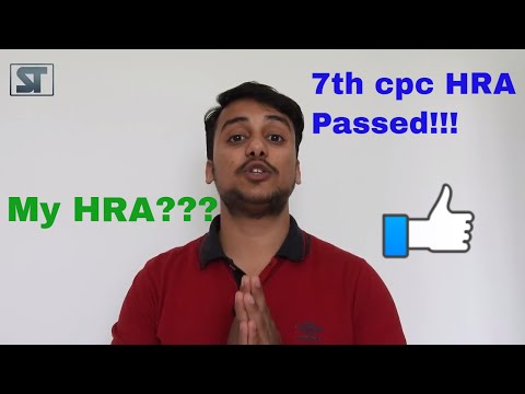 7th CPC || HRA calculation || HIndi