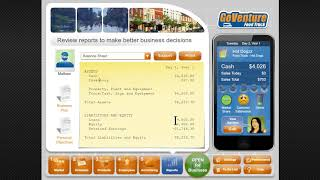 Review the Balance Sheet in GoVenture Food Truck