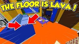 Minecraft ITA - THE FLOOR IS LAVA Nel SALOTTO! - W/SpJockey