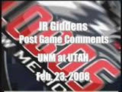 JR Giddens Radio Interview: UNM at Utah
