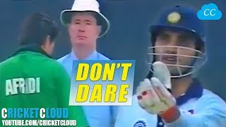 Sourav Ganguly Shaking Head to Umpire | Don't dare to give me out !!