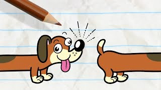 Pencilmate's Dog Gets into a Fight -in- PAIN IN THE MUTT - Pencilmation Cartoons