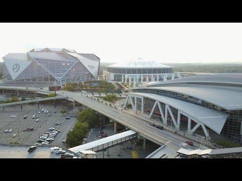 [NEW] Mercedes Benz Stadium & Suntrust Park drone flyover