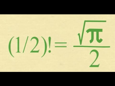 What Is The Factorial Of 1/2? SURPRISING (1/2)! = (√π)/2