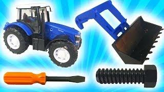 Мультики Про Синий Трактор- Как мы чинили Синий Трактор - Видео про машинки для Детей