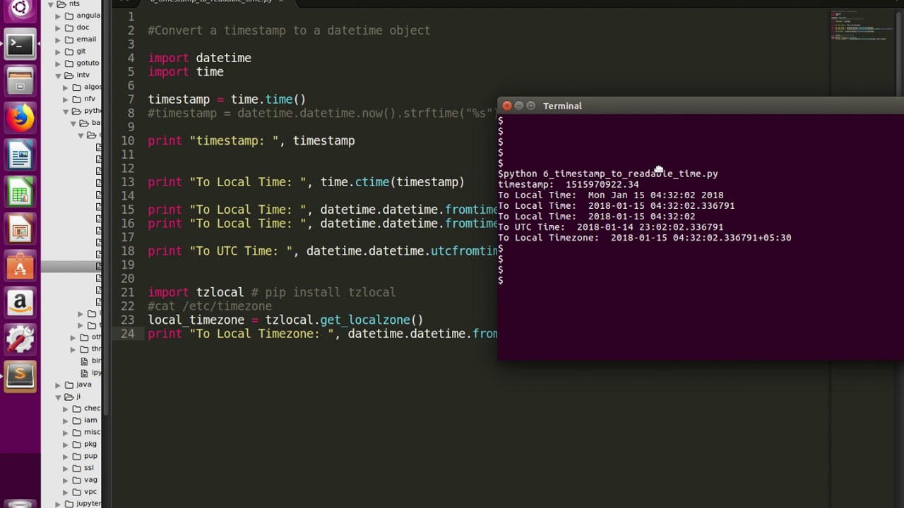 Python Convert Timestamp to Readable Time (Local and UTC Time)