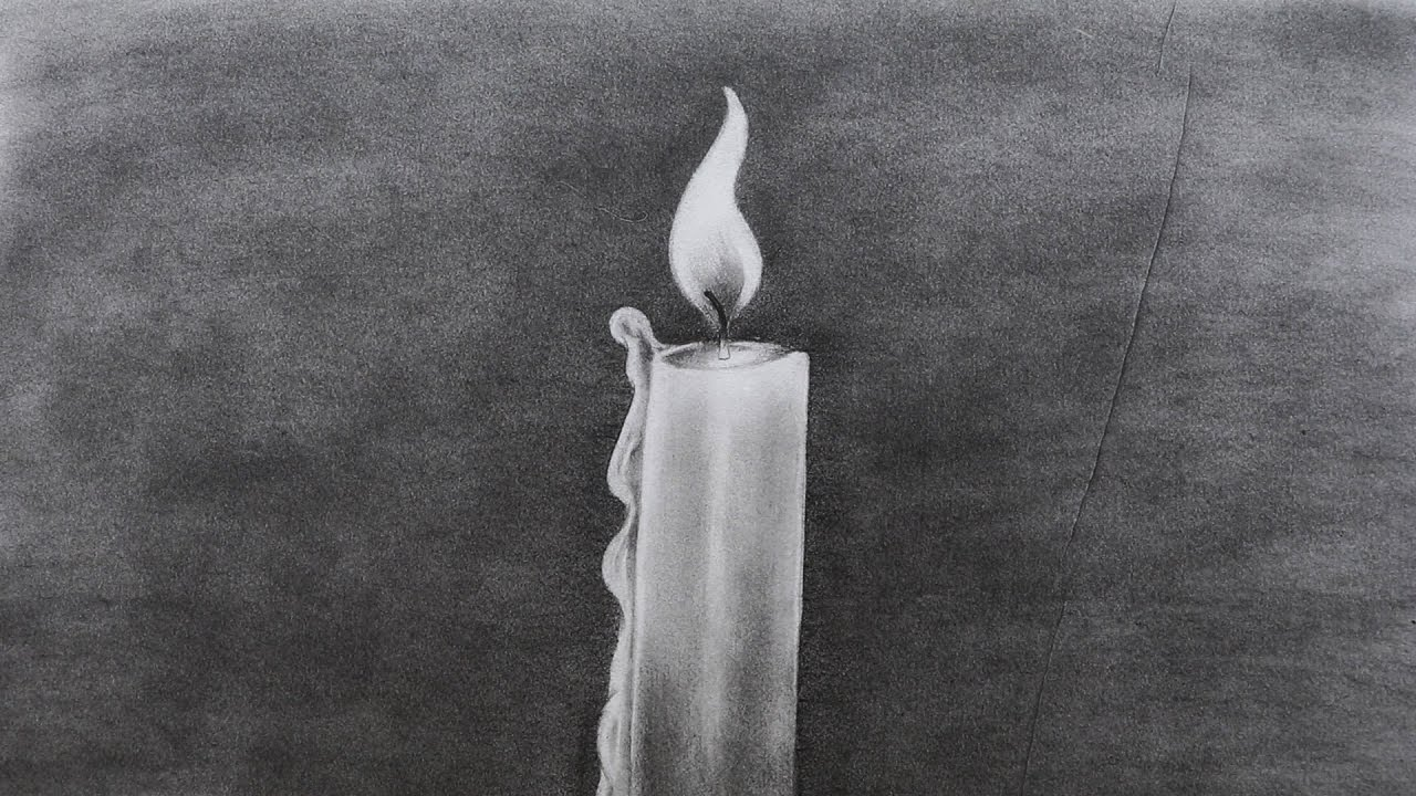 How to sketch a candle