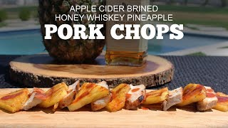 Apple Cider Brined Pork Chops w/ Tennessee Honey Whiskey Pineapple | Green Mountain Pellet Grills