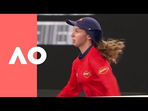 Ballkid bounces back from Kanepi forehand (1R) | Australian Open 2019