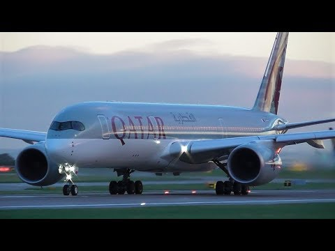 Early Morning Close Up Take offs at Manchester Airport | 08-11-18