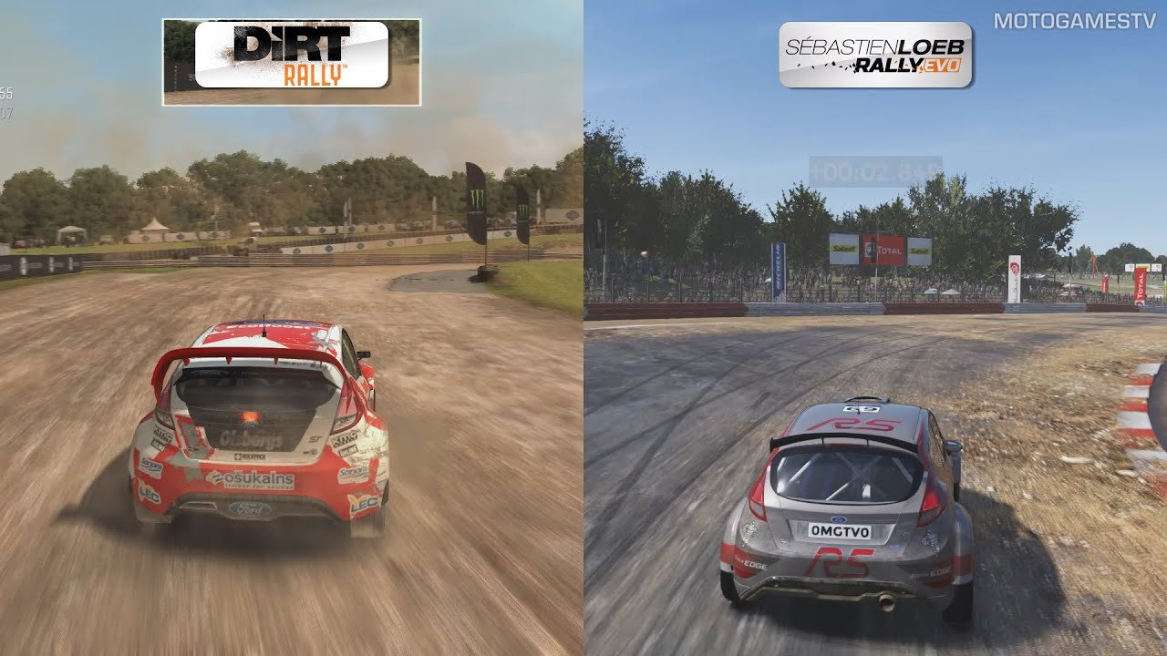 dirt rally vs sebastien loeb rally evo rallycross comparison youtube. Black Bedroom Furniture Sets. Home Design Ideas
