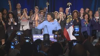 Stacey Abrams speaks from her watch party and said 'Every vote will be counted'