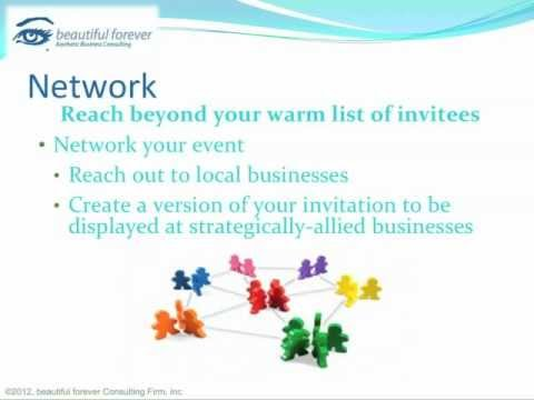 Aesthetic Business - Planning a Successful Event- Part 10 - Network Your Event