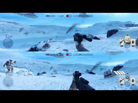 STAR WARS Battlefront для двоих. Сплит скрин.