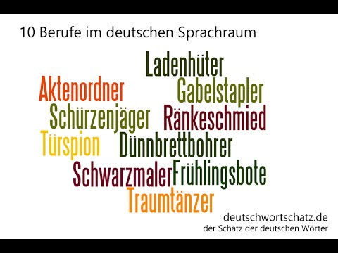 10 Berufe im deutschen Sprachraum / 10 jobs that only exist in German