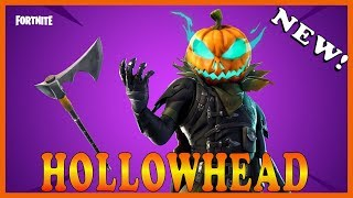 "NEW ""HOLLOWHEAD"" SKIN in FORTNITE - NEW ""SPRINKLER"" EMOTE // Playing With SUBSCRIBERS"