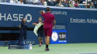 Stan Wawrinka vs Kei Nishikori   US Open 2016 SF Highlights HD