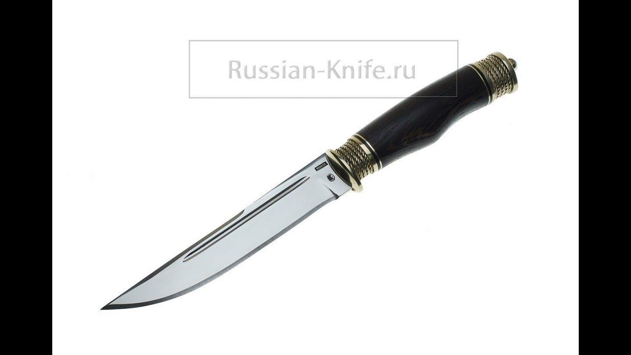 Нож Лесник (сталь 110Х18МШД) Крутов В. - YouTube